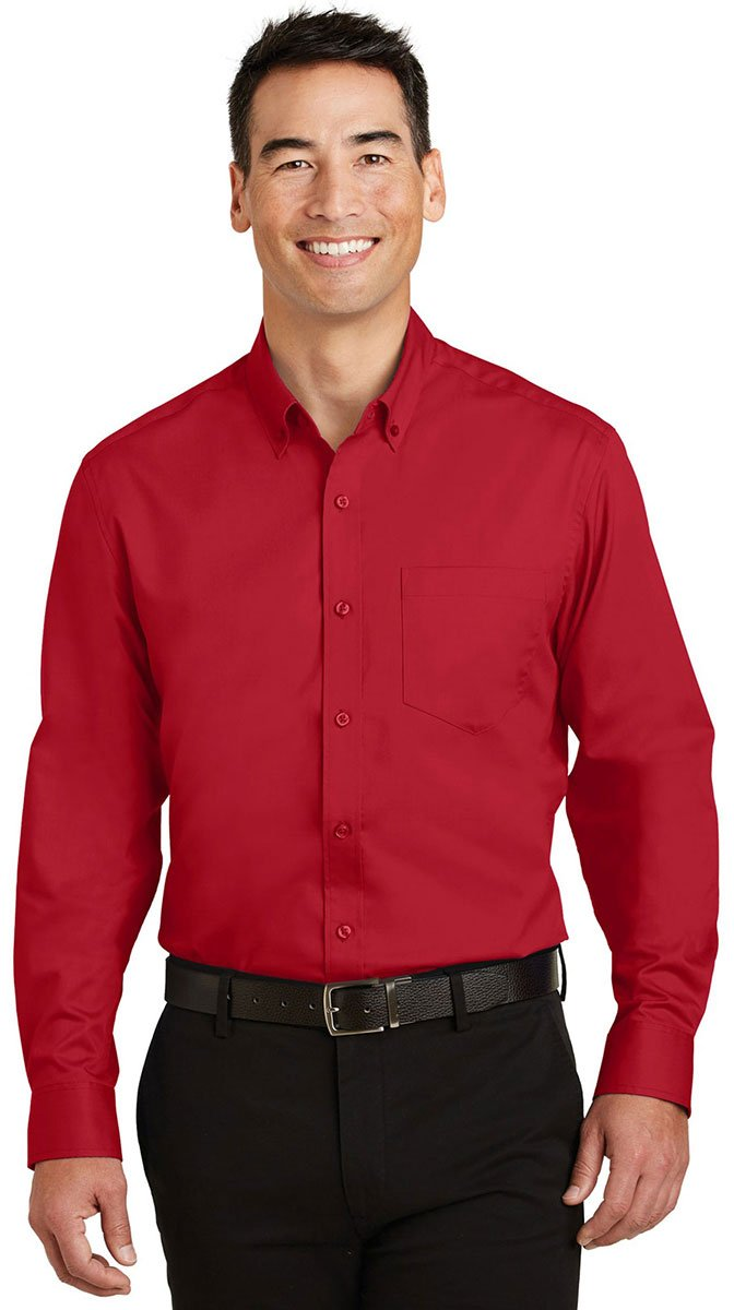 Port Authority SHIRT メンズ B01N45IUU9 3L|レッド(Rich Red) レッド(Rich Red) 3L