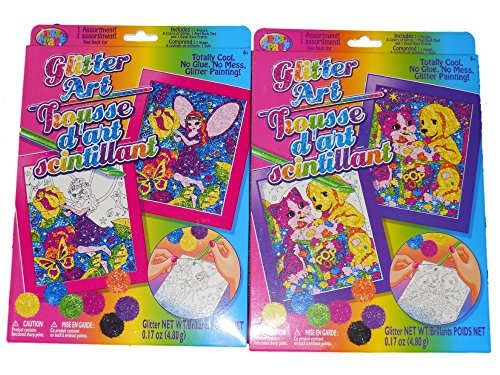 Lisa Frank Glitter Art Paint by Number Set by Lisa Frank