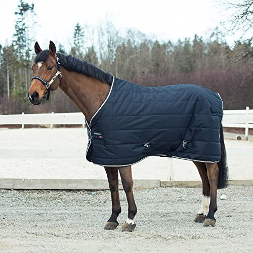 B Vertigo Corey 250G Stable Blanket, Dark Navy - 78