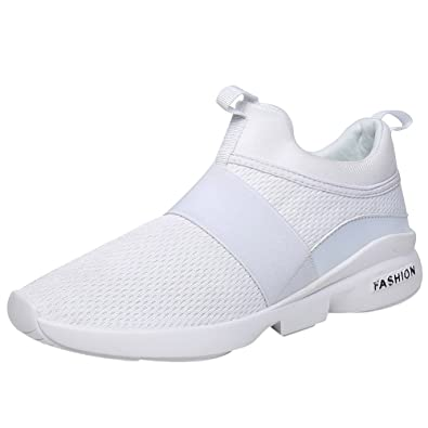 ecd154bc410c12 Mauea Baskets Sans Lacets Sport Running Fitness Mesh Respirantes Sneakers  Basse Chaussures Décontracté Course Outdoor Mode