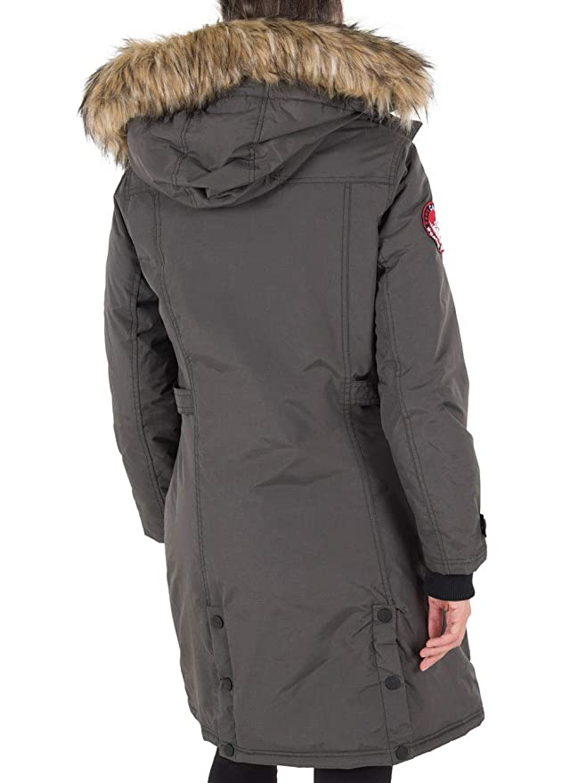 26ce61bf57f Amazon.com  CANADA WEATHER GEAR Women s Long Outerwear Jacket with Faux  Fur  Clothing