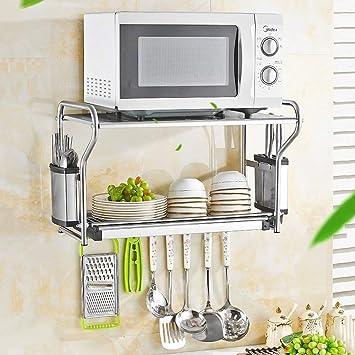 Festnight Estante de Almacenamiento de Cocina Multifuncional de 2 Niveles Estante Estanter/ía para Horno de microondas