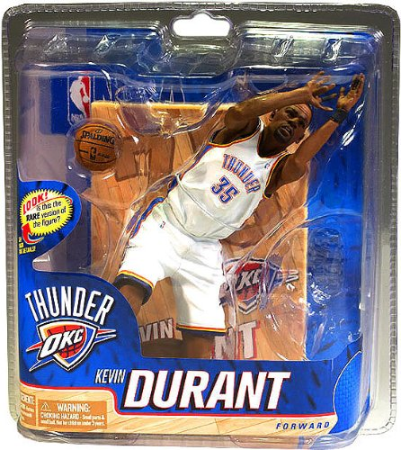 McFarlane Toys NBA Sports Picks Series 20 Action Figure Kevin Durant (Oklahoma City Thunder) White Uniform Silver Collector Level Chase by McFarlane