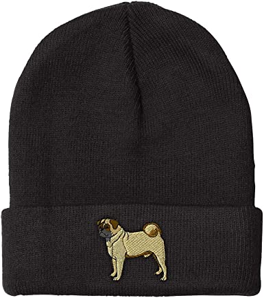 100/% Acrylic Stretch Skiing Cap Mens and Womens Love Boston Terrier Knitted Hat
