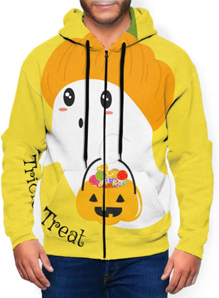 Long Sleeve Hoodie Print Cute Owl Bear Christmas Jacket Zipper Coat Fashion Mens Sweatshirt Full-Zip S-3xl