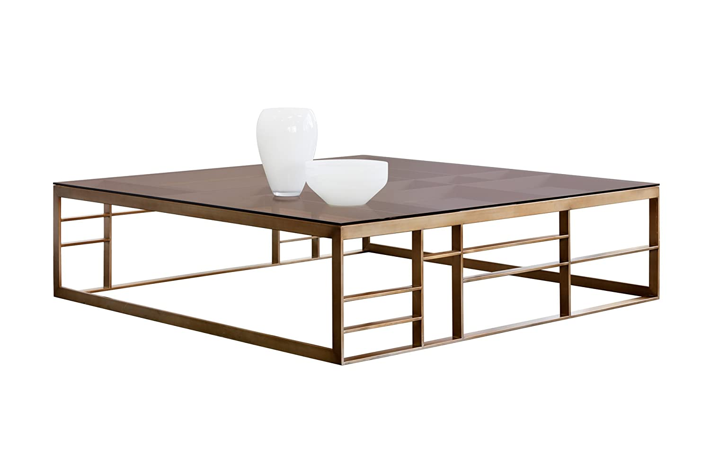Amazon Com Sunpan Modern Joanna Square Antique Brass Coffee Table