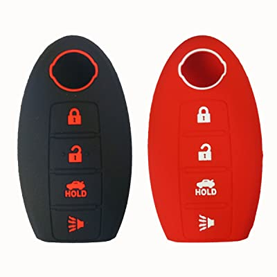 Coolbestda 2Pcs Silicone Smart Key Fob Cover Protector Keyless Jacket Remote Control Holder for Nissan Altima Maxima Murano Armada Gt-r Sentra: Automotive
