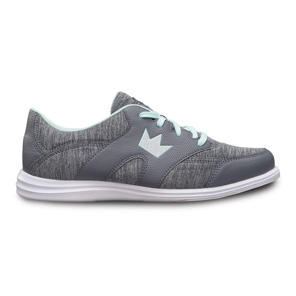 Brunswick Bowling Products Ladies Karma Sport Bowling Shoes- B US, Grey/Mint, 6