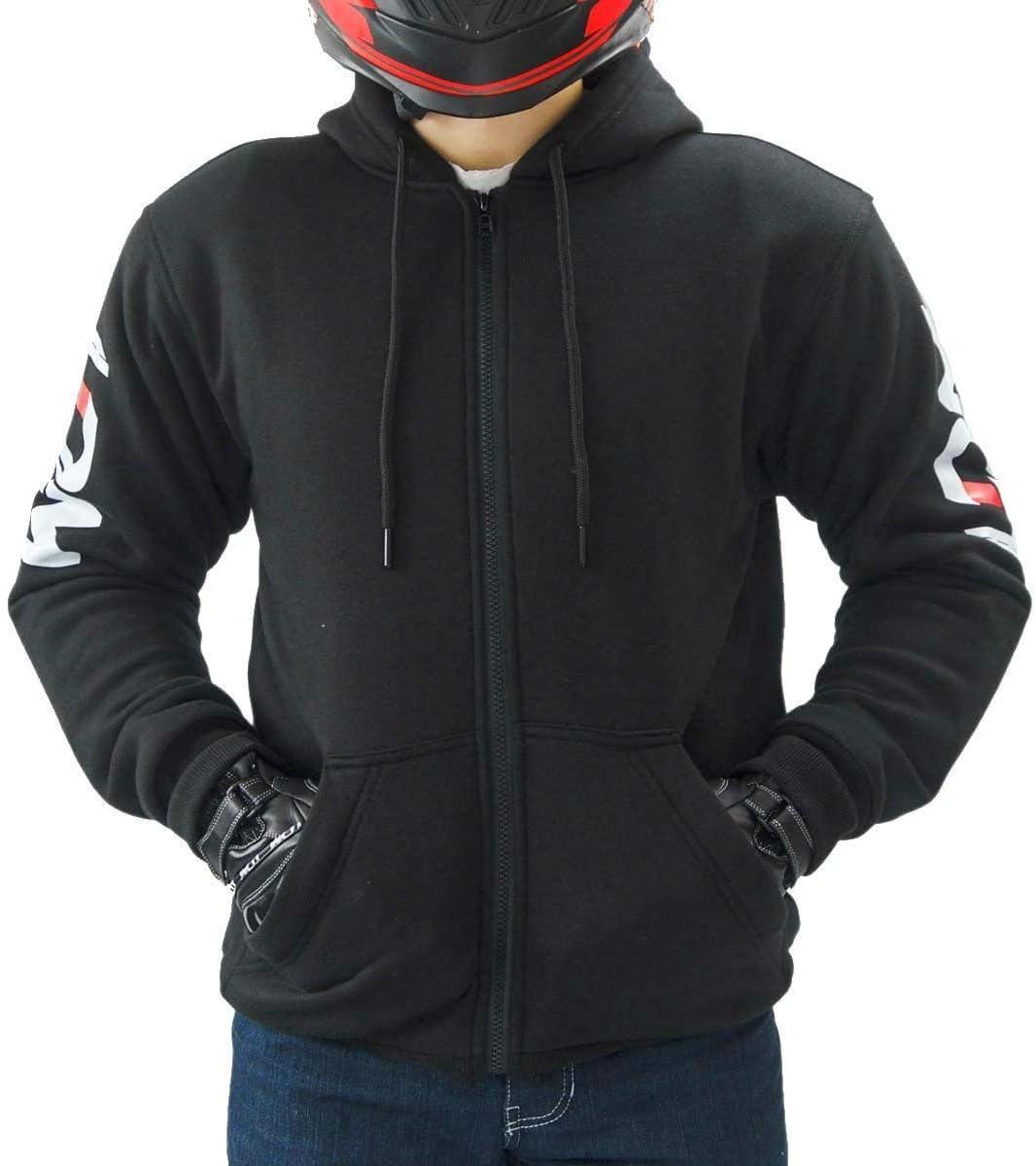 LDM - Sudadera con capucha para hombre, para motorista Street-r, acorazada negro negro XL (43.5-44.5 inches)