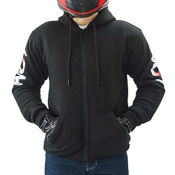 LDM Street-R Sudadera Hoodie con Capucha para Motos con Armadura Forro DuPontTM Kevlar®