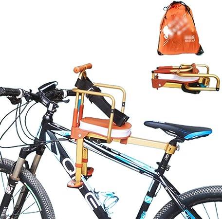 Sillas De Bicicletas para NiñOs,Asiento Delantero para Bicicleta, SillíN Infantil PortabebéS para Bicicleta con Pedales Respaldo De 8 Meses A 7 AñOs: Amazon.es: Hogar