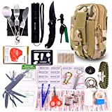 GULAKI Emergency Survival Kit, Portable Outdoor Survival Gear Tool for Hiking Camping Travel Adventure