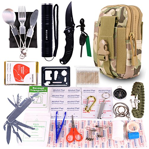 Emergency Survival Gear Kits, Portable Outdoor Survival Gear Tool for Hiking Camping Travel Adventure by GULAKI (Image #7)