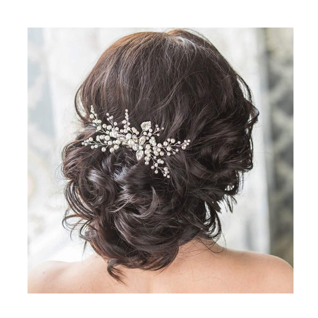 Amazon Unicra Wedding Hair Combs Hair Accessories With Bead