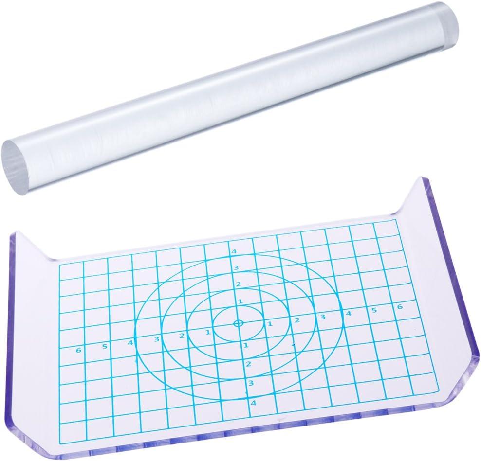 ROSENICE Tavolo in lamiera acrilica a rettangolo in acrilico con griglia essenziale 2 pezzi