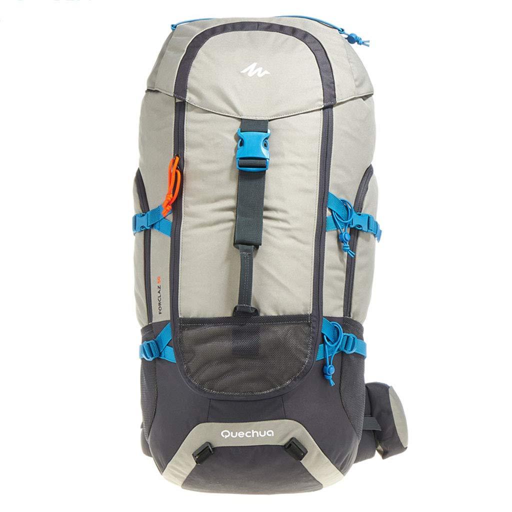50L旅行バックパッククリエイティブファッション旅行ハイキングキャンプバックパック男性/女性ピンク  Light gray B07QYFZTKX
