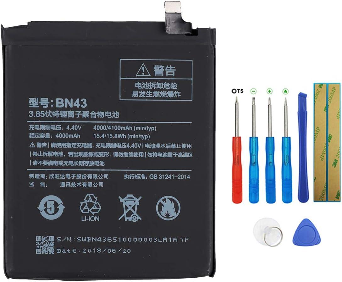 Swark BN43 - Batería compatible con Xiaomi RedMi Note 4X (no compatible con Xiaomi Redmi Note 4) con herramientas