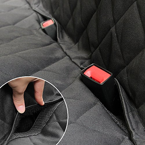 HONEST OUTFITTERS Honest Luxury Quilted Dog Car Seat Cover With Side Flap Pet Backseat cover for Cars, Trucks, and Suv's - WaterProof & NonSlip Diamond Pattern Dog Seat Cover by HONEST OUTFITTERS (Image #5)