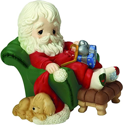 Precious Moments, and to All A Goodnight , 8th in Annual Santa Series, Bisque Porcelain Figurine, 161030