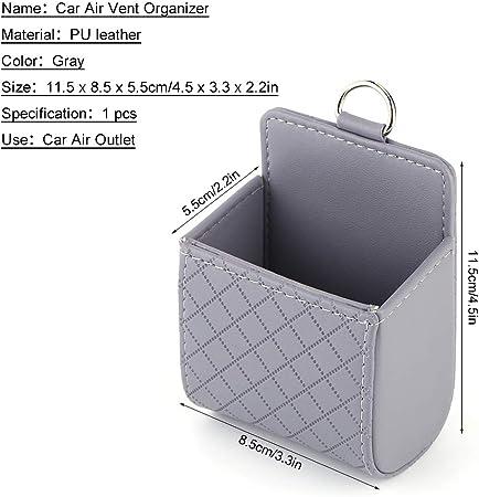 Qiilu Auto Universal Aufbewahrungstasche Tasche Telefon Mod Sun Glas Box Halter Pocket Organizer Grau Auto