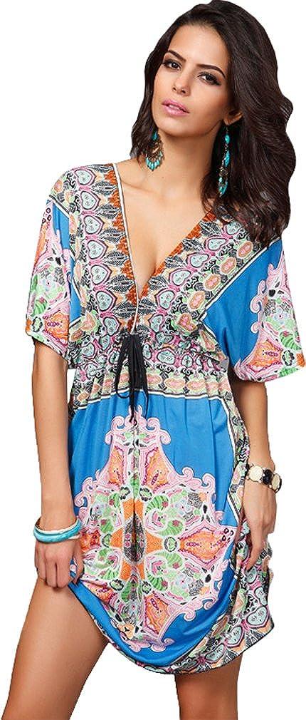 Diversión sexy Andyshi Bohemia la de la Bohemia mujer verano Sexy profundo cuello en V Loose superhéroe, Cover Up 7bfc3d