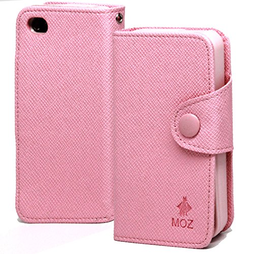 iPhone 4S Case, iPhone 4 Case, Cellto Innovation Case [Ultra Slim] Wallet Diary Cover [Card Slots] - Baby (Baby Pink Iphone 4 Case)