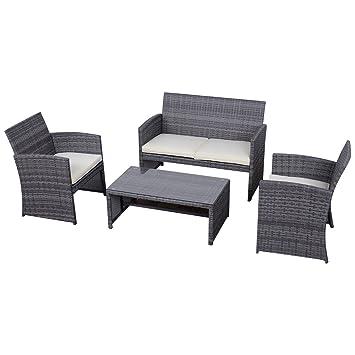 Amazon Tangkula 4 Piece Outdoor Patio Sofa Set Lawn Garden