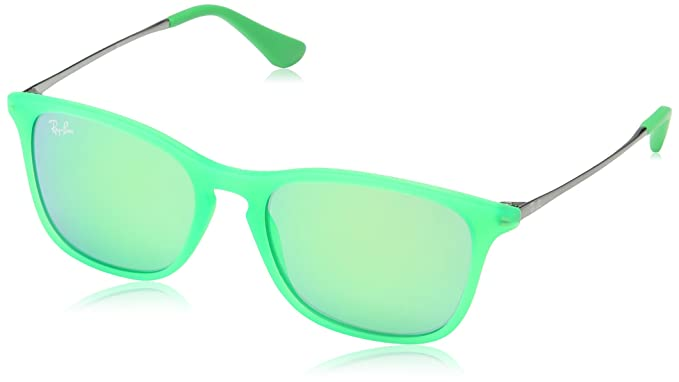 Ray-Ban Chris Junior Gafas de sol, Green Fluo Trasp Rubber ...
