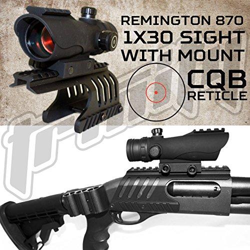 Aluminum Remington 870 12 GA Shotgun Saddle WITH 1X30 RED DOT SIGHT NEW