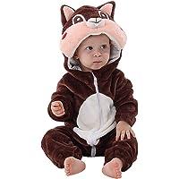 MICHLEY Disfraz Animal Bebe niño y niña Body Pijama Ropa de 0 a 24 Meses