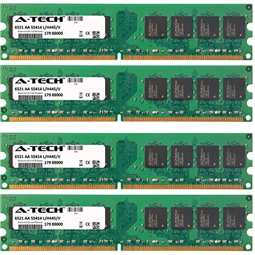 - A-Tech 4GB KIT 4 x 1GB for HP Compaq Business Desktop Series dc5700 dc5750 dc7600 dc7700 dc7700p dc7800 dx2280 dx2700 dx7200 dx7300 DIMM DDR2 Non-ECC PC2-5300 667MHz RAM Memory