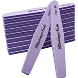 Sponge Nail File and Buffers for Nail Art Care Double Sides Design 100/180 Grit Nail Buffer Professional Manicure Nail Tools Color Purple Pack of 10pcs