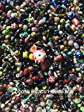 3 Pounds of Mix Lamp Work, Glass, Crystal Mix Beads, Encased Beads, Wedding Cakes, Crackle, Czech Pressed,, Crystal, Chinese Eye, BumpY Dots, Assorted, Variety Mix Size 6mm-24MM, Variety of Colors