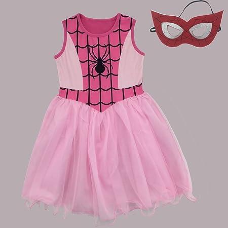 Zooarts para 4 - 9 años niñas color rosa araña red impresión ...