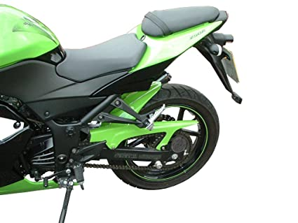Kawasaki Ninja 250R (2008 - 11) Hugger: Racing verde: Amazon ...
