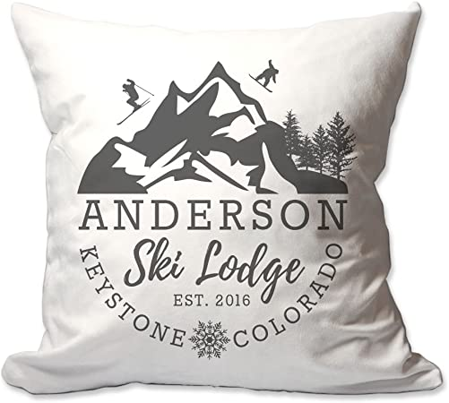 Pattern Pop Ski Lodge Throw Pillow
