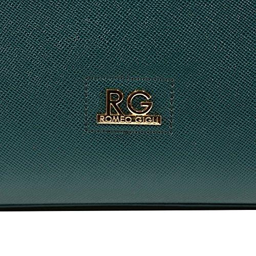 """Borsa Romeo Gigli in ecopelle, collezione A/I 2018, linea """"Jole"""", Verde Bottiglia. BO323-VE"""