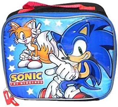 Sonic The Hedgehog Lunch Box Sonic Lunch Bag Amazon Co Uk Toys Games