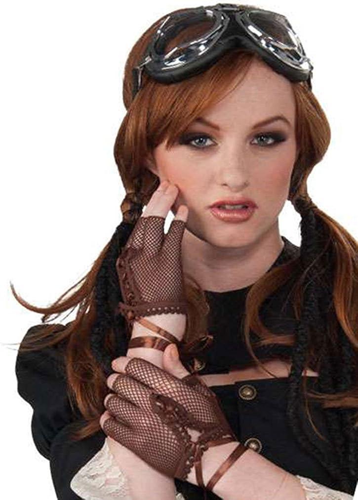 Brand New Steampunk Fingerless Fishnet Gloves Costume Accessory