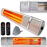 Patio Heater Deluxe Wall Mounted Electric Outdoor Garden 2000W Remote
