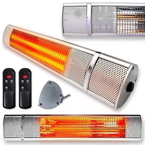 Futura Deluxe Wall Mounted Electric Infrared Outdoor Garden Patio Heater...