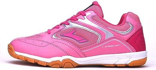 FJJLOVE Zapatos del bádminton de los Hombres, de Peso Ligero Calzado Deportivo Profesional Caminar Calzado Respirable de Tenis Cubierta Deportes Zapatillas de Deporte,Rosado,42: Amazon.es: Hogar