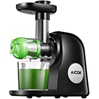 Juicer Machines, Aicok Slow Masticating Juicer Extractor Easy to Clean, Quiet Motor...