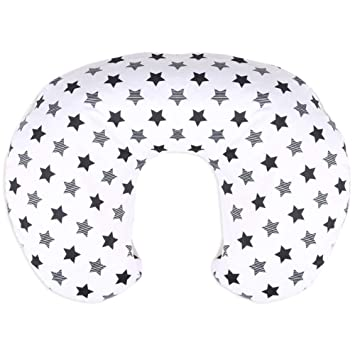 Super Soft Fabric with White Dotted Backing BORITAR Nursing Pillow Cover with Dinosaur Pattern Slipcover Minky for Boys and Girls Dark Blue