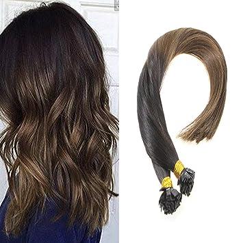 Amazon Com Vesunny 1g S Two Tone Flat Tip Human Hair Extensions