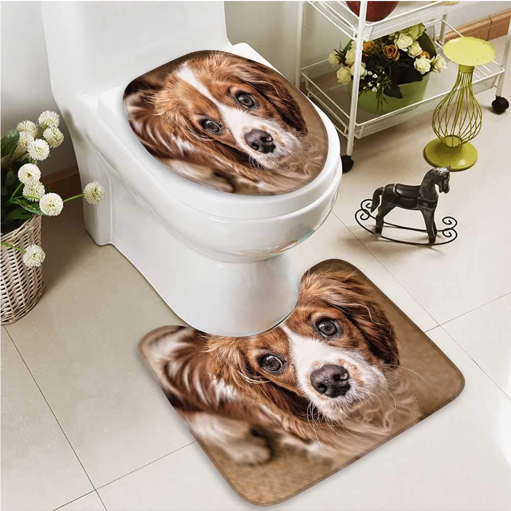color8 L21\ color8 L21\ Printsonne 2 Piece Bathroom Contour Rugs pet Dog Non Slip Comfortable SND Soft