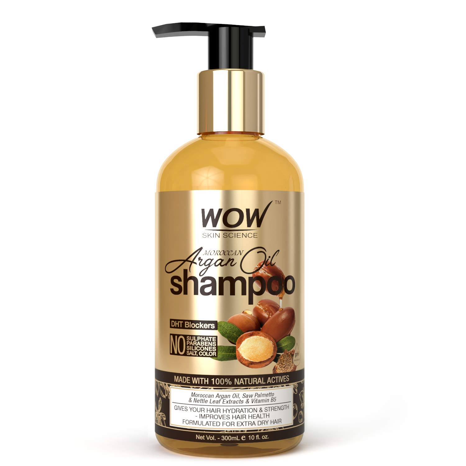 WOW Skin Science Moroccan Argan Oil Shampoo (with DHT