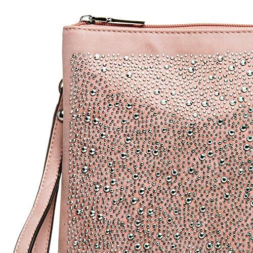 Brillant Enveloppe Soirée Femme De Grand À Pour Main Xl Et Strass Rose Caspar Avec Dragonne Ta358 clutch Sac R0qwxBBS