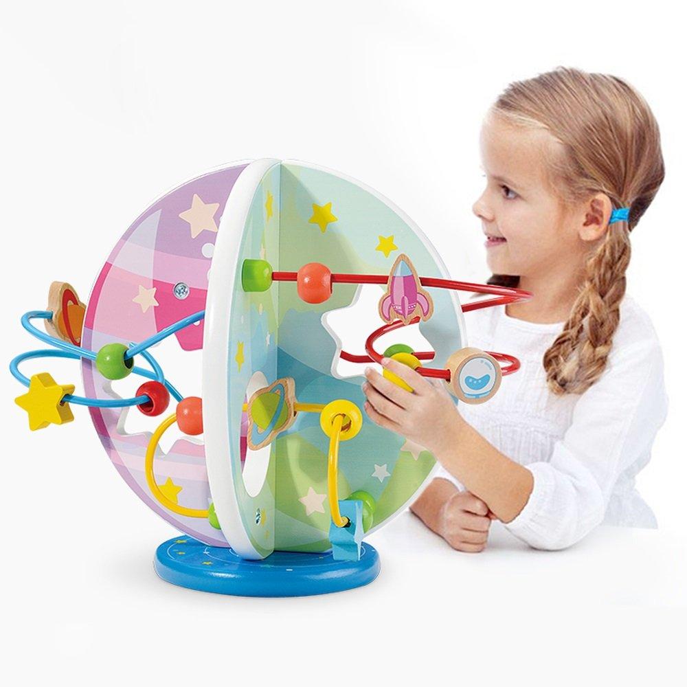 【在庫あり】 ビーズ迷路おもちゃ - ベビークラシック玩具子供の木製ローラーコースタービーズ早期学習学習玩具幼児に適して B07FPMPFJ3 B07FPMPFJ3, 介護オフ:2b46c2cb --- a0267596.xsph.ru