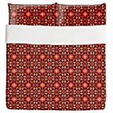 Kilim Tiles Duvet Bed Set 3 Piece Set Duvet Cover - 2 Pillow Shams - Luxury Microfiber, Soft, Breathable